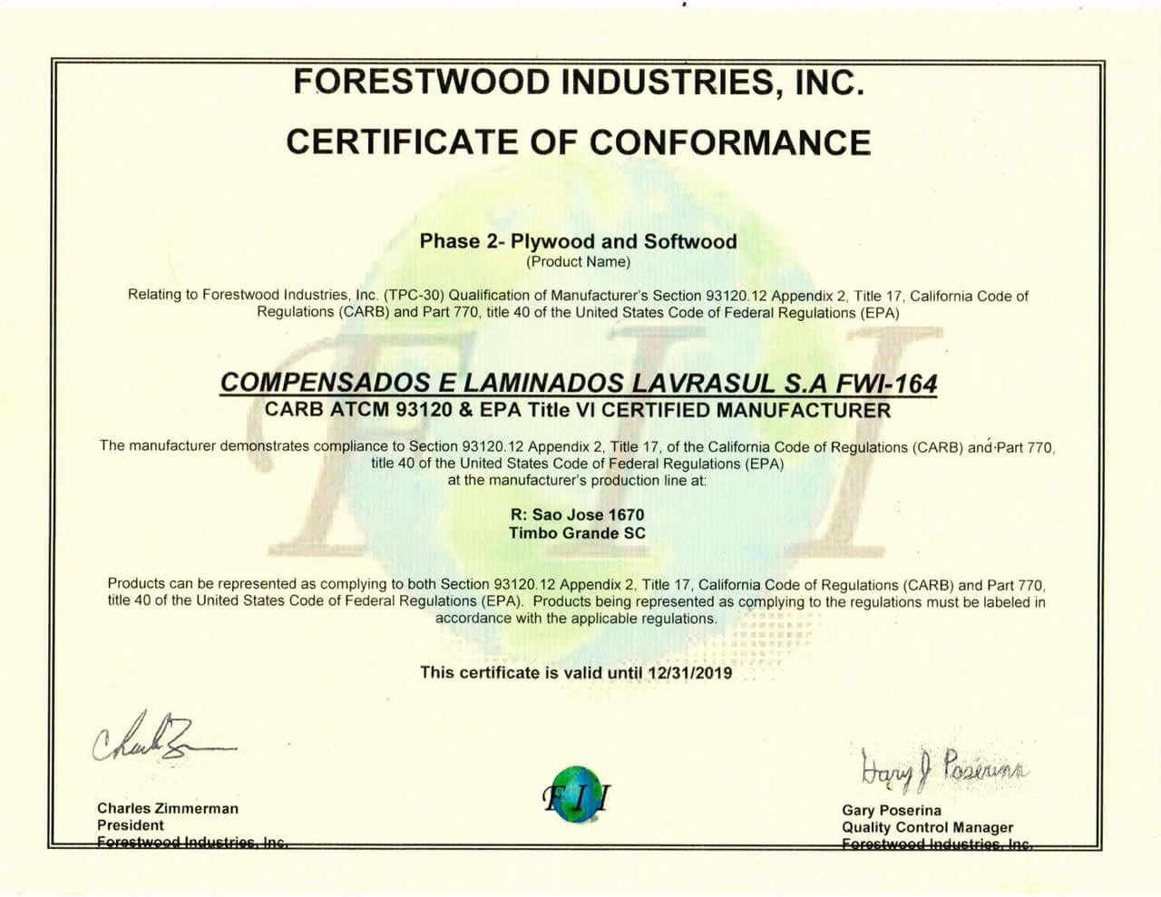 FORESTWOOD INDUSTRIES, INC